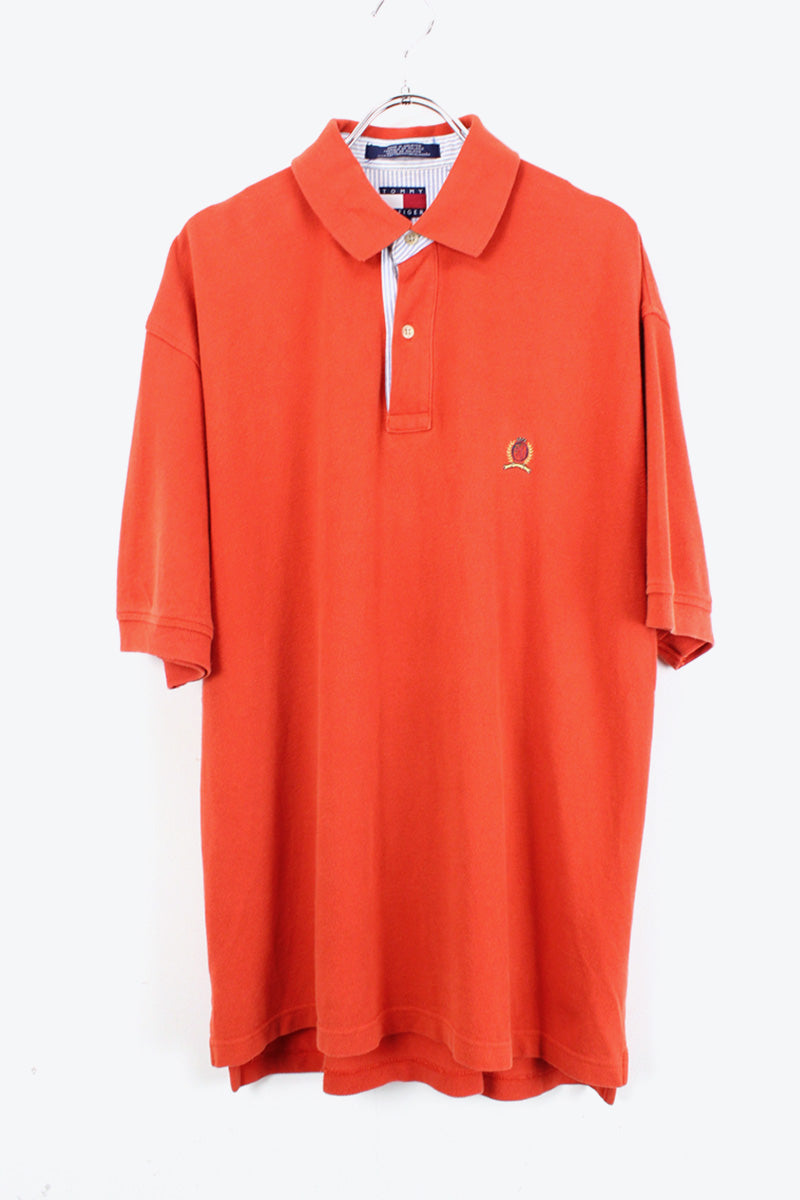 90'S POLO SHIRT / ORANGE【SIZE:M USED】【金沢店】