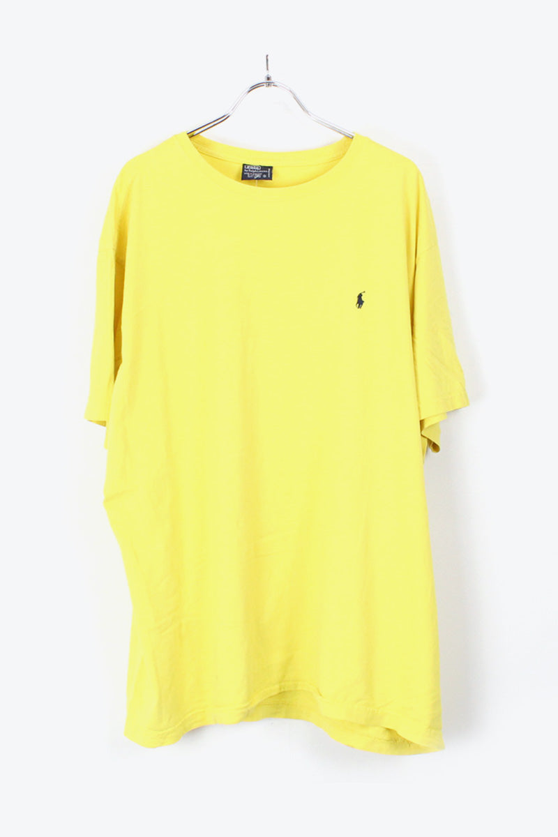90'S S/S ONE POINT T-SHIRT / YELLOW [SIZE:XL USED] [金沢店]