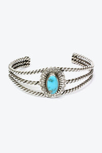20'S MADE IN USA SILVER BANGLE w/TURQUOISE【ONE SIZE: USED】【金沢店】