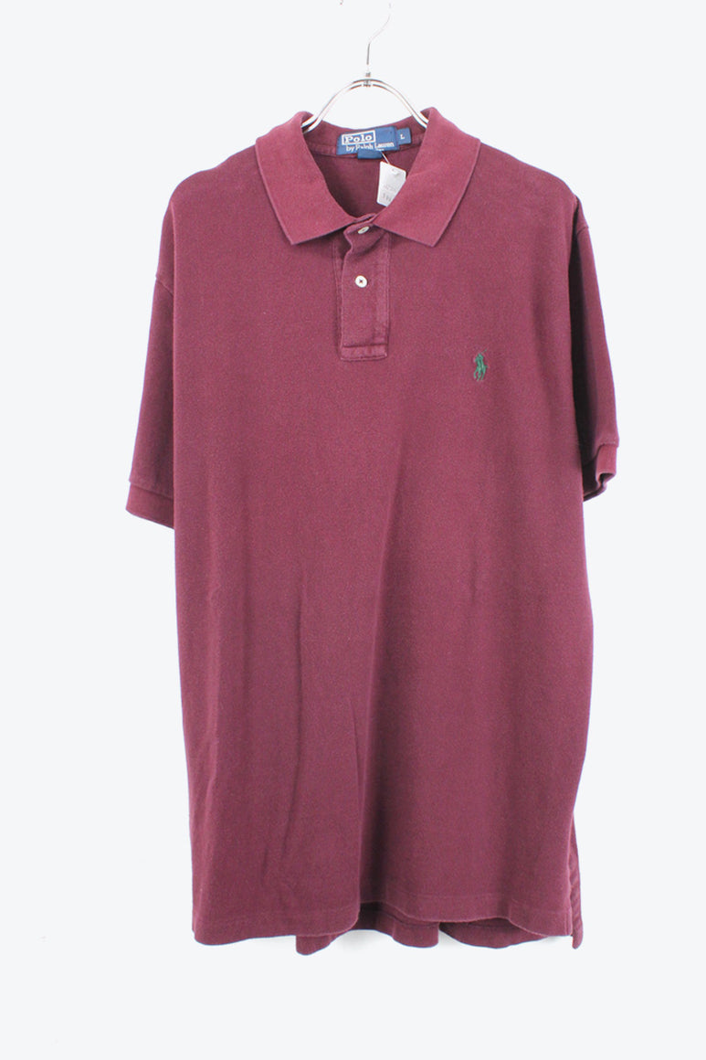 S/S POLO SHIRT / BURGUNDY【SIZE:L USED】【金沢店】