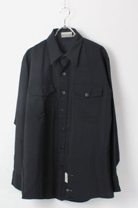 MADE IN USA L/S FLAP POCKET SHIRT / BLACK【SIZE:L相当 USED】【金沢店】