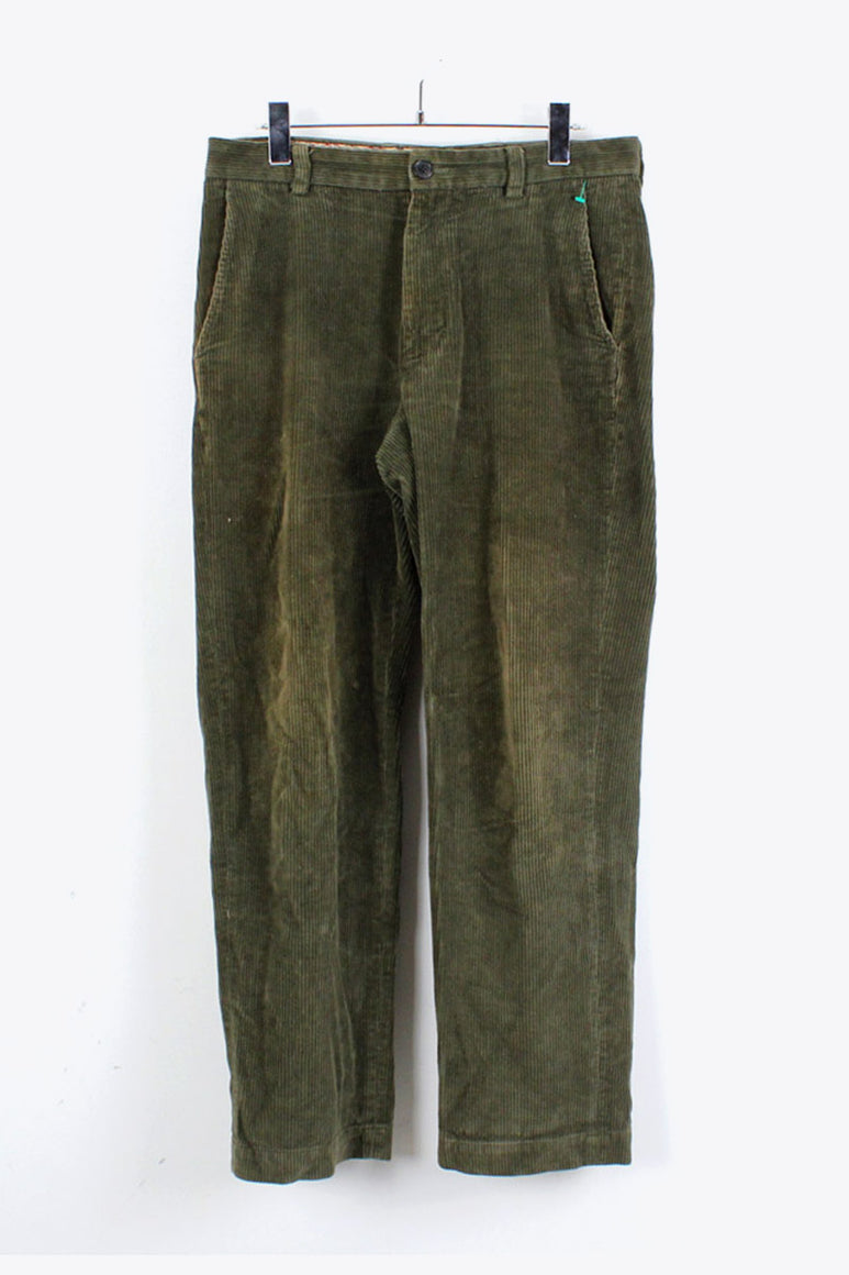 CORDUROY SLACKS PANTS / OLIVE [SIZE:31x30 USED][金沢店]