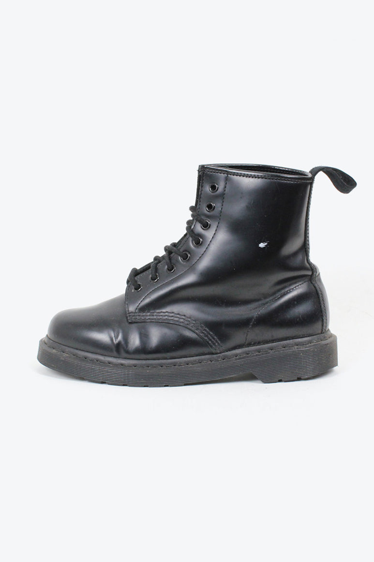 BLACK STITCH 8HOLE BOOTS / BLACK [SIZE: 40(25.5cm相当) USED][金沢店]