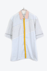 S/S STRIPE SHIRT / WHITE【SIZE:XL USED】【金沢店】
