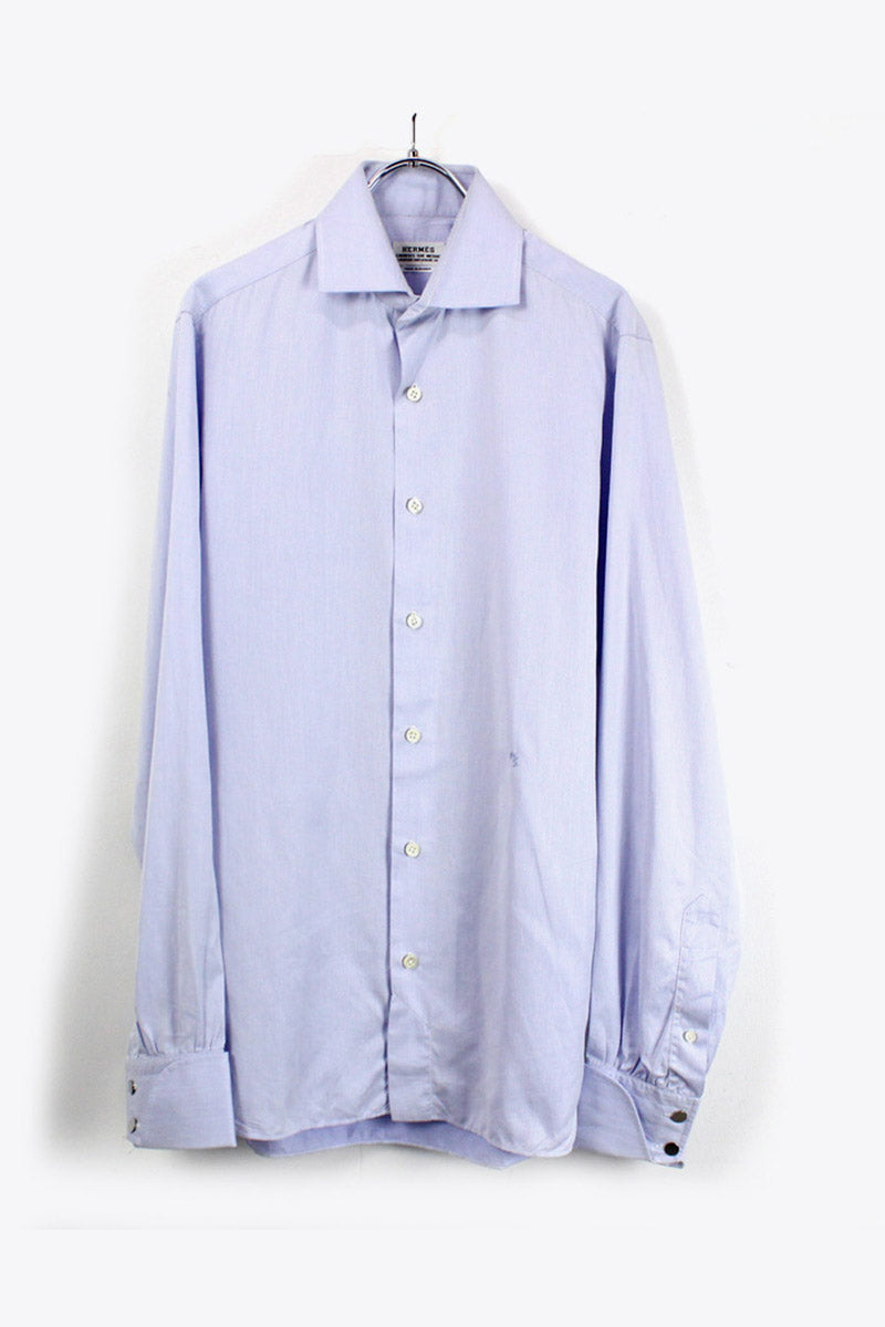 MADE IN FRANCE 90'S L/S DRESS SHIRT / LIGHT BLUE [SIZE: S相当 USED][金沢店]