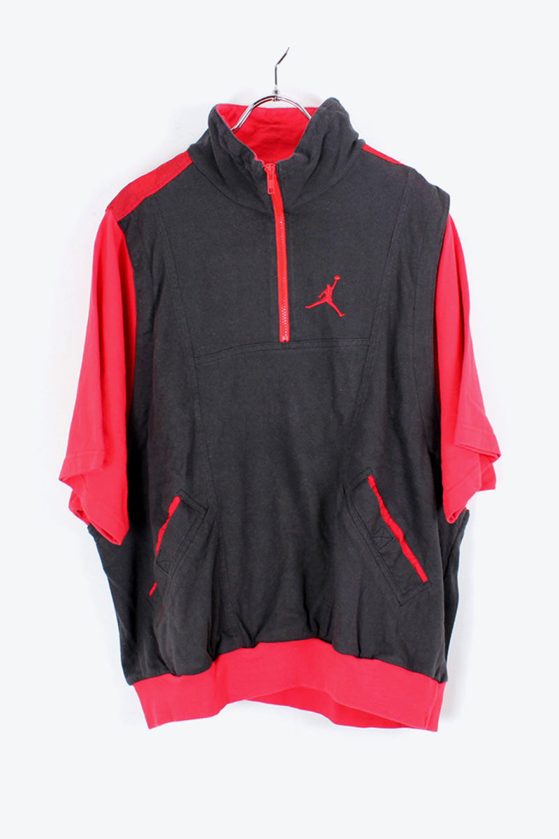 90'S AIR JORDAN S/S PULLOVER T-SHIRT / BLACK/RED [SIZE:L相当 USED] [金沢店]