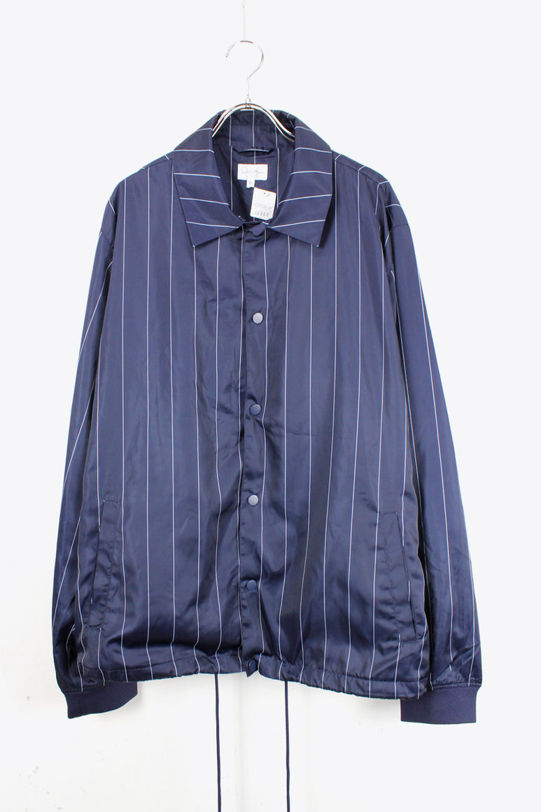 PIN STRIPE COACH JACKET / NAVY【SIZE:XL USED】【金沢店】