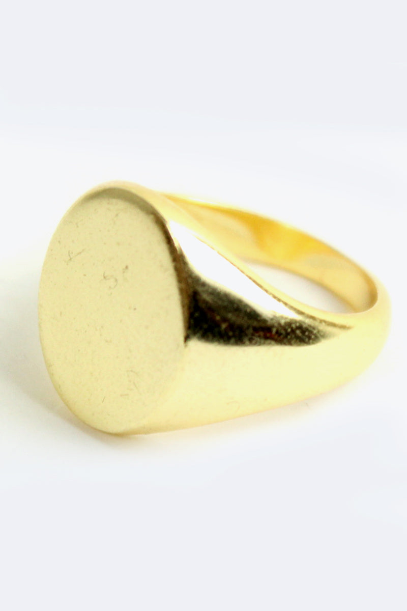 SILVER 925K GOLD PLATED RING / GOLD【SIZE:19号相当 USED】【金沢店】