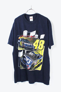 CAR RACE T-SHIRT / NAVY [SIZE:L USED] [金沢店]