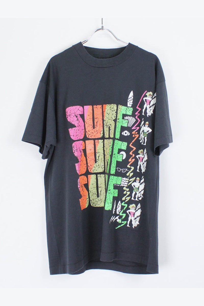 90'S S/S PRINT T-SHIRT / BLACK/MULTI [SIZE:XL USED] [金沢店]