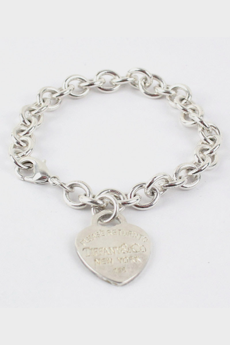 925 SILVER ROUND RINK HEART BRACELET  [SIZE:O/S USED][金沢店]