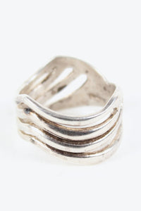 MADE IN MEXICO 925 SILVER RING [SIZE: 15号相当 USED][金沢店]