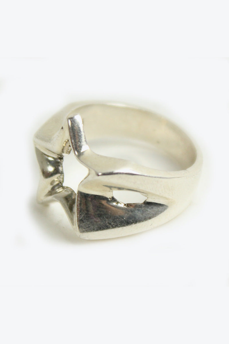 SILVER 925 STAR RING [SIZE:21号相当 USED][金沢店]