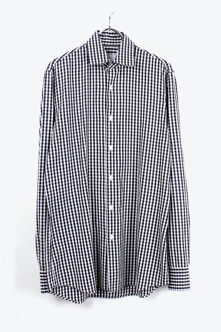 L/S CHECK SHIRT / BLACK WHITE [SIZE: 38/15 USED][金沢店]