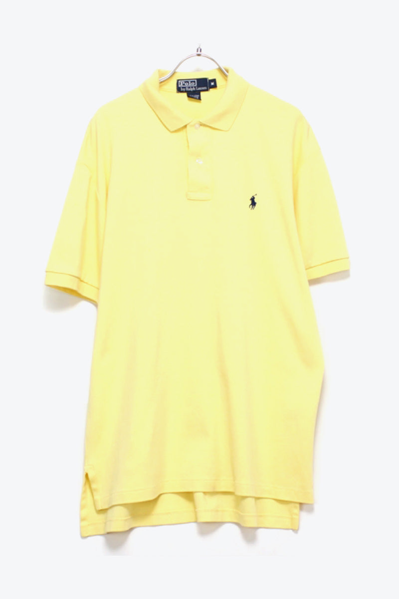 S/S EMBROIDERY LOGO POLO SHIRT / YELLOW【SIZE:M USED】【金沢店】