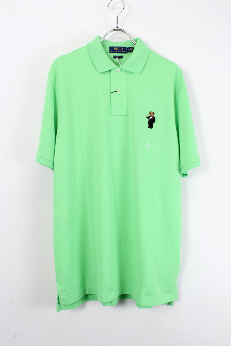 S/S BEAR ONE POINT POLO SHIRT / GREEN【SIZE:M NEW】【金沢店】