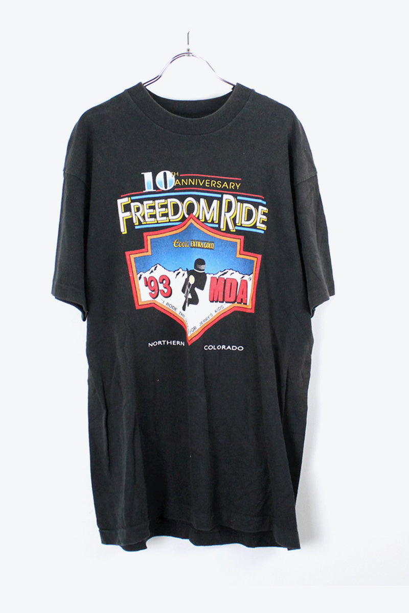 90'S S/S FREEDOMRIDE T-SHIRT / BLACK [SIZE:L USED] [金沢店]