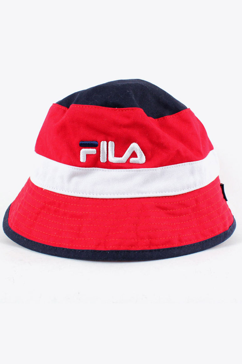 COLOR BLOCK BUCKET HAT / RED NAVY WHITE [SIZE: O/S NEW][金沢店]