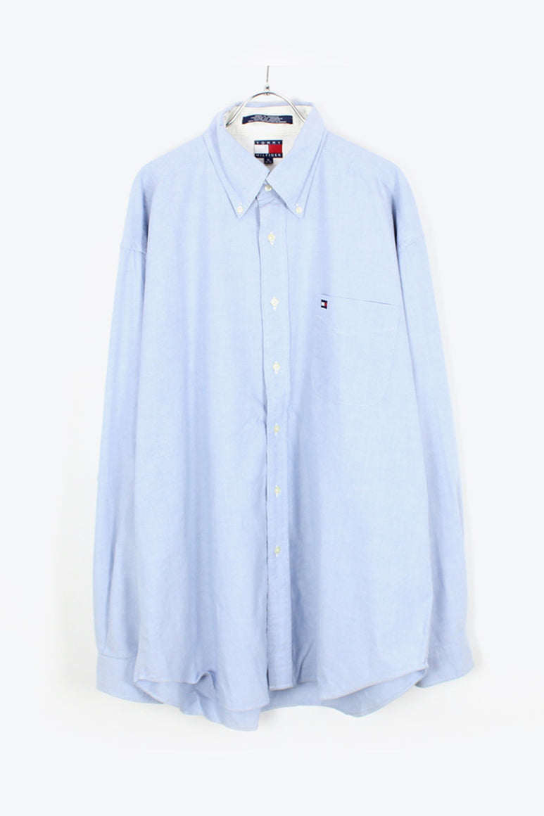 90'S L/S BD OXFORD SHIRT / SAXE BLUE [SIZE: XL USED][金沢店]