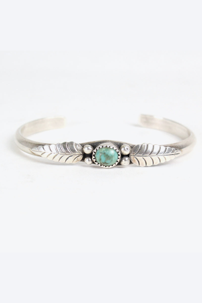 925 SILVER BANGLE TURQUOISE 【ONE SIZE: USED】【小松店】