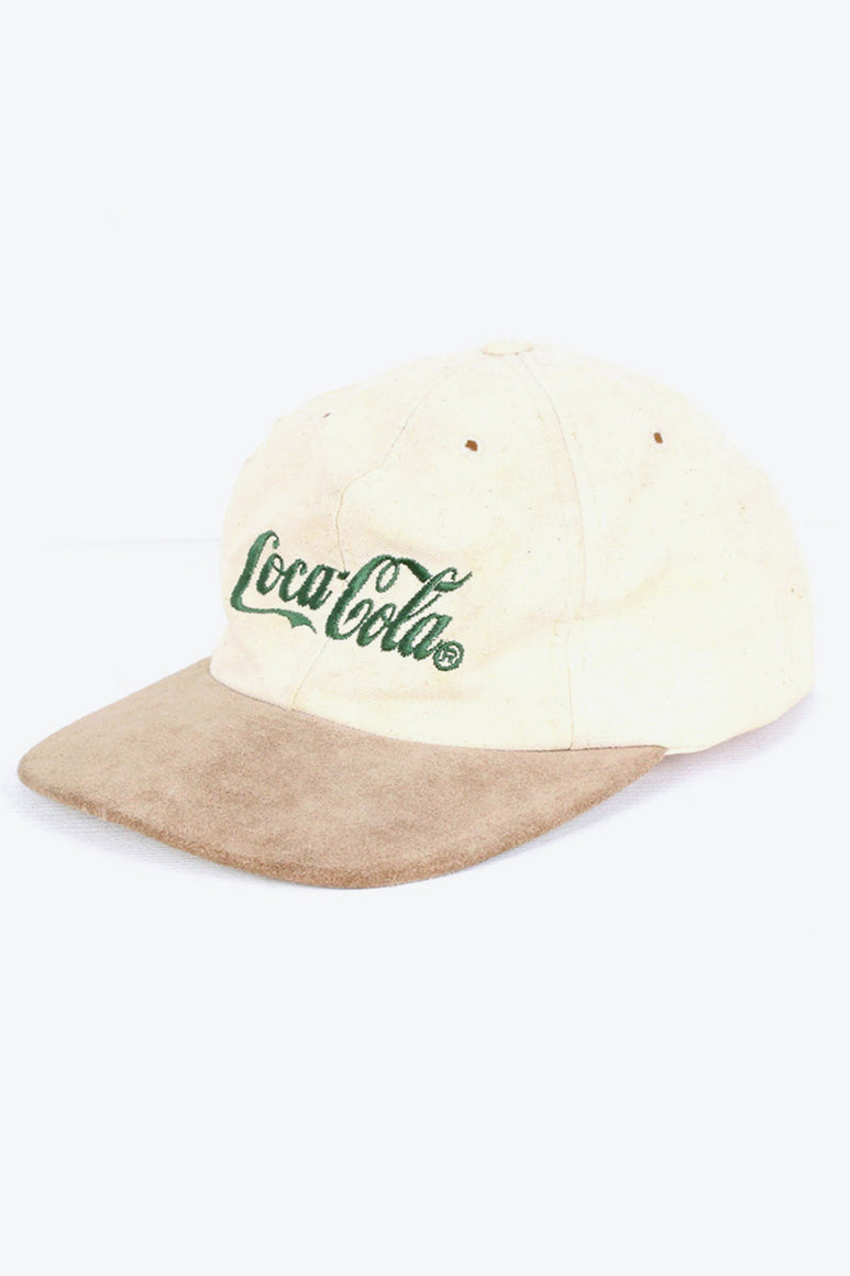 90'S FAKE SUEDE LOGO CAP / IVORY/BEIGE [SIZE: O/S USED][金沢店]