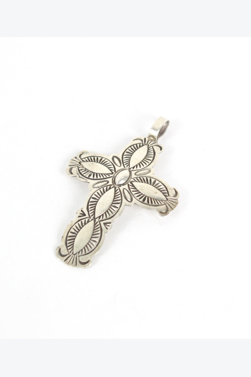 STERLING SILVER CROSS PENDANT TOP【SIZE:O/S USED】【金沢店】