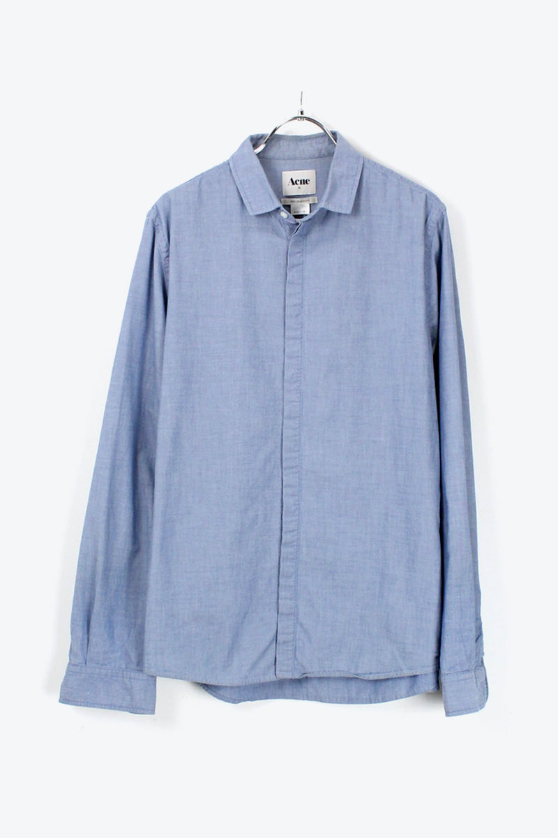 L/S CHAMBRAY SHIRT / SAXE BLUE [SIZE: 48 USED][金沢店]