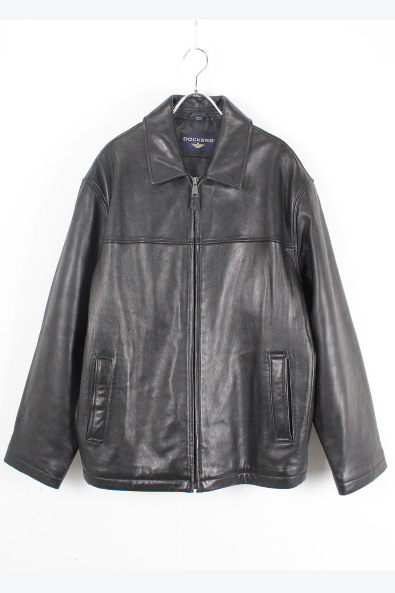 LAMB LEATHER ZIP JACKET / BLACK【SIZE:M USED】【金沢店】