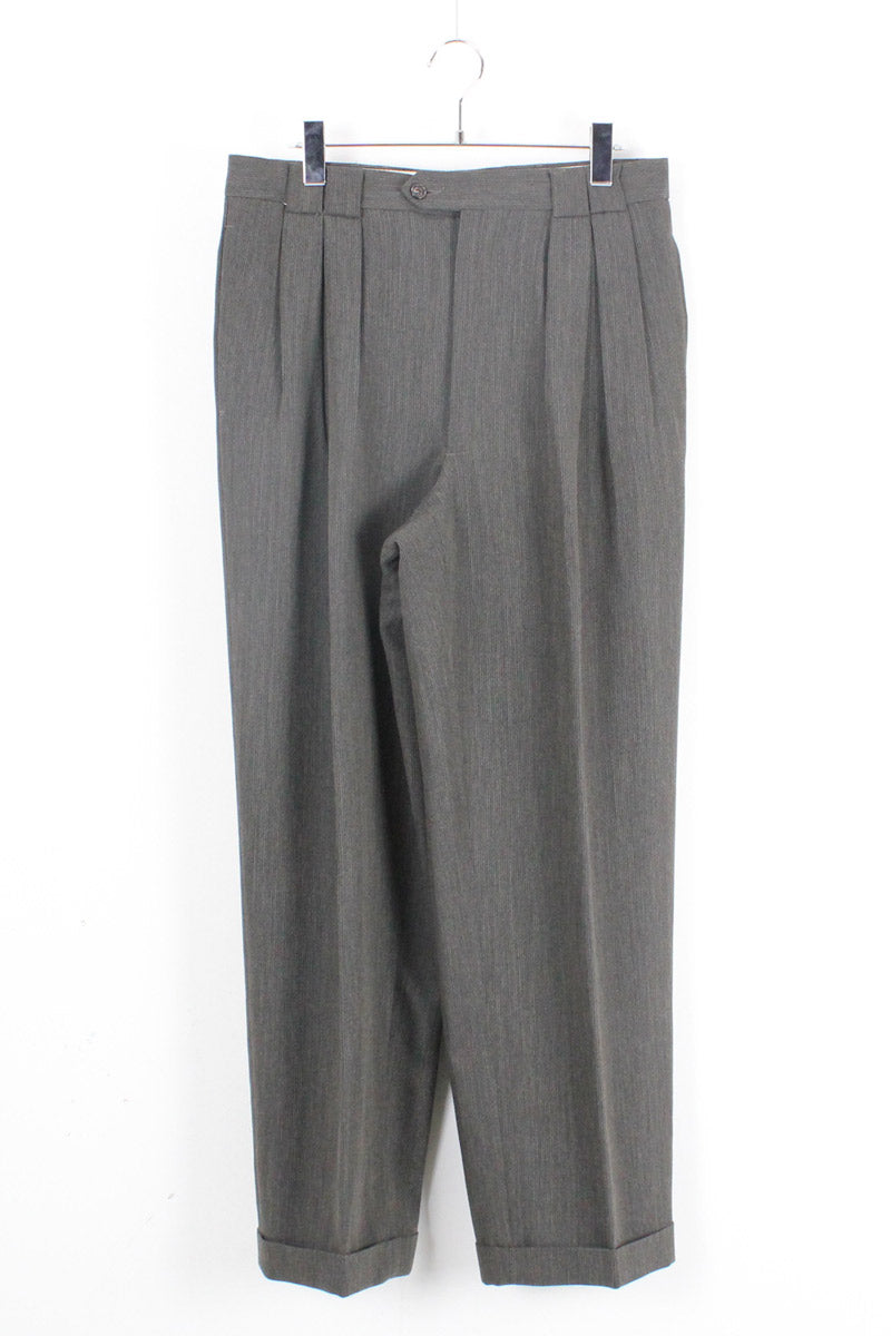 MADE IN ITALY SLACKS PANTS / KHAKI GREY【SIZE:33 USED】【金沢店】