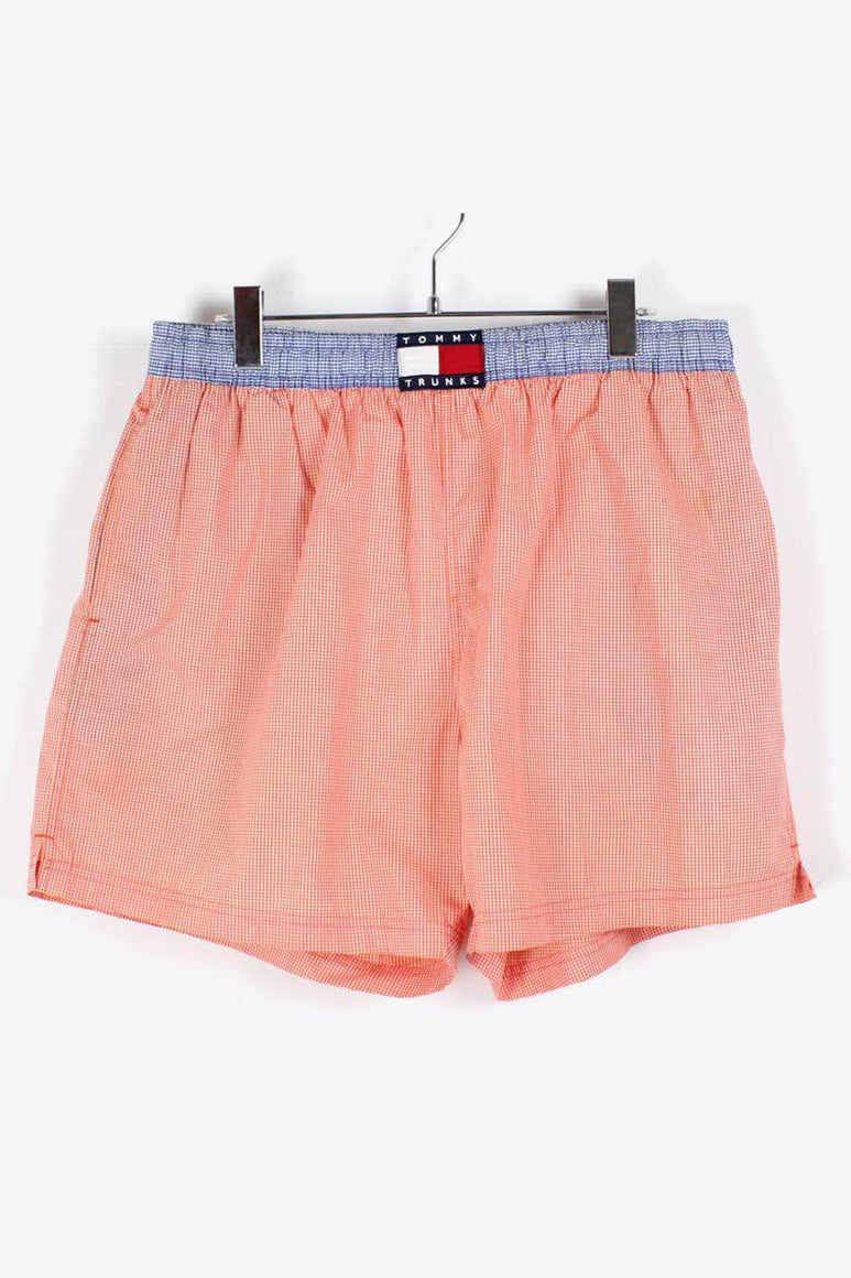 90'S GINGHAM CHECK SHORTS / ORANGE BLUE [SIZE: L USED][金沢店]
