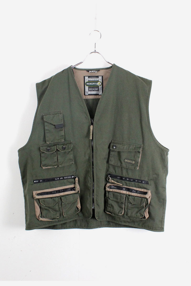 HUNTING VEST / GREEN【SIZE:3XL USED】【金沢店】