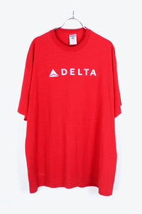 DELTA LOGO SHIRT / RED [SIZE:XL USED] [金沢店]