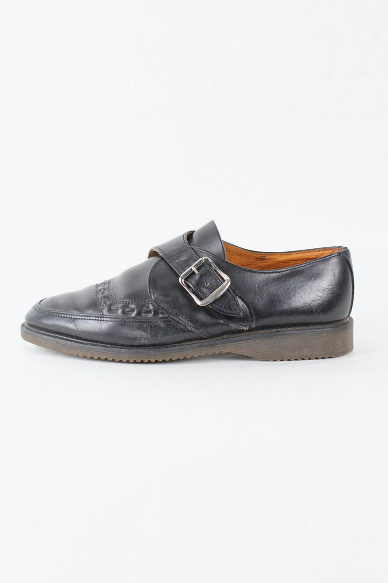 MADE IN ENGLAND 80'S STRAP SHOES / BLACK [SIZE: US8.5(26.5cm相当) USED][金沢店]