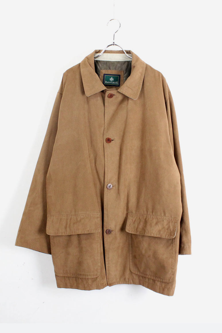 90'S IMITATION SUEDE COAT / CAMEL【SIZE:L USED】【金沢店】
