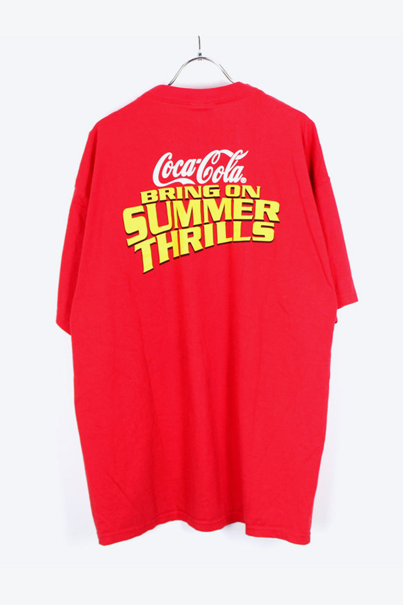 COCA COLA T-SHIRT / RED [SIZE:XL USED] [金沢店]