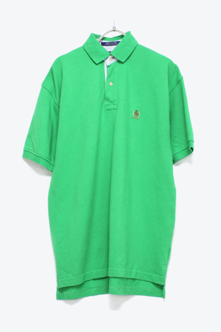 90'S S/S POLO SHIRT / GREEN【SIZE:S USED】【金沢店】
