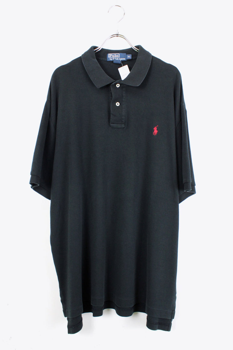 S/S POLO SHIRT / BLACK【SIZE:XL USED】【金沢店】