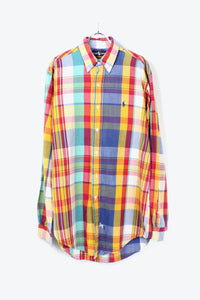 90'S L/S BD CHECK SHIRT / MULTI [SIZE: M USED][金沢店]