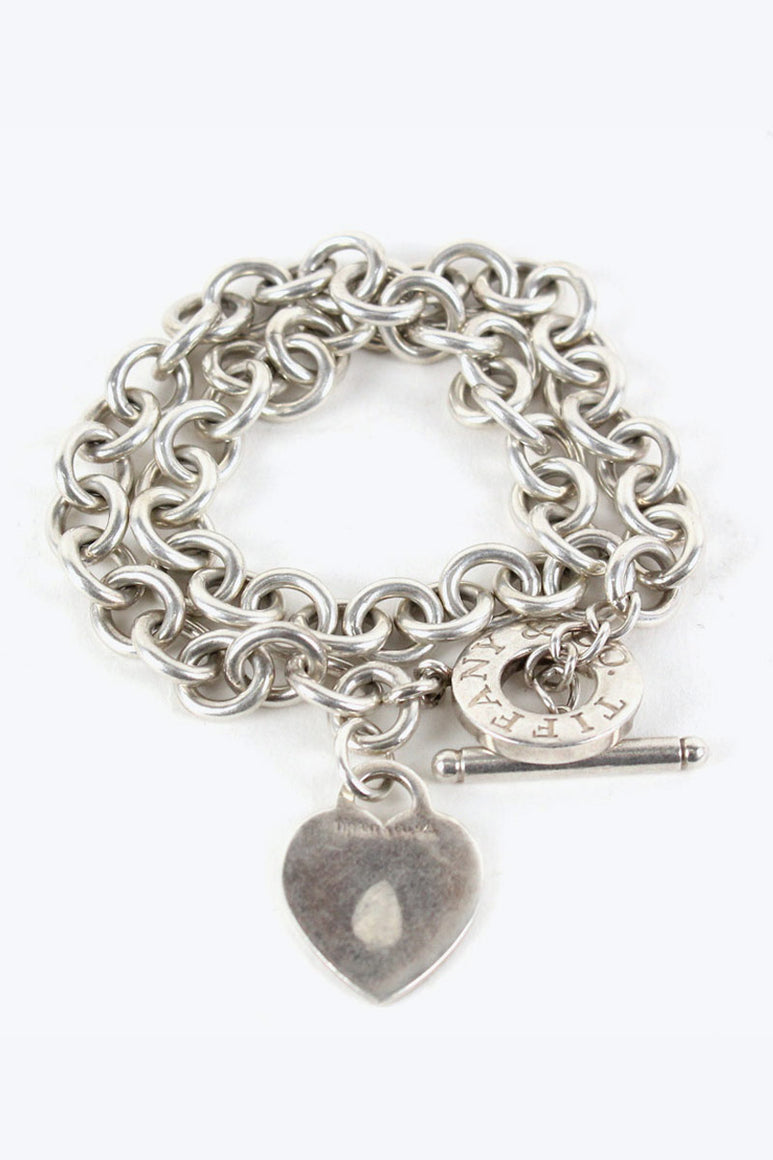 SILVER DOUBLE BRACELET T-BAR [SIZE: O/S USED][金沢店]