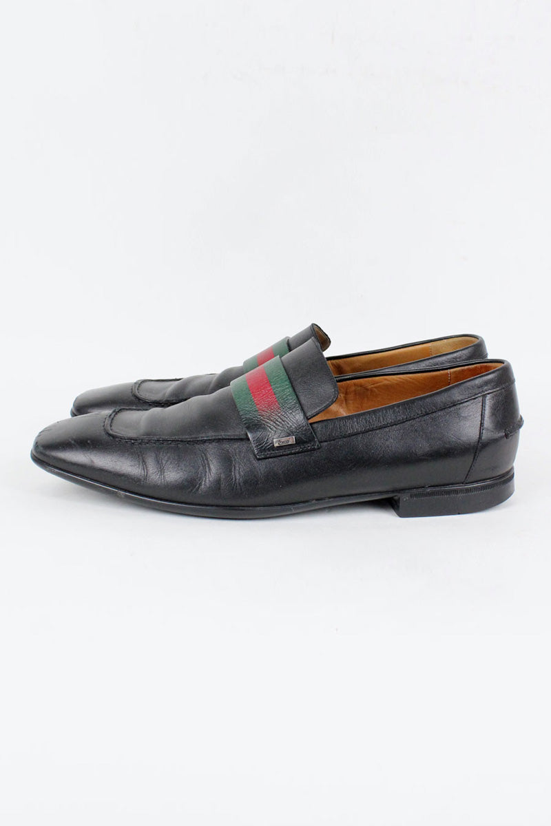 MADE IN ITALY STRAP LOAFER / BLACK [SIZE: US8(26cm相当) USED][金沢店]