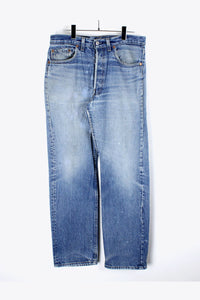 90'S MADE IN USA 501 DENIM PANTS SLIM / STONE WASHED [SIZE:W30 L32 USED] [金沢店]