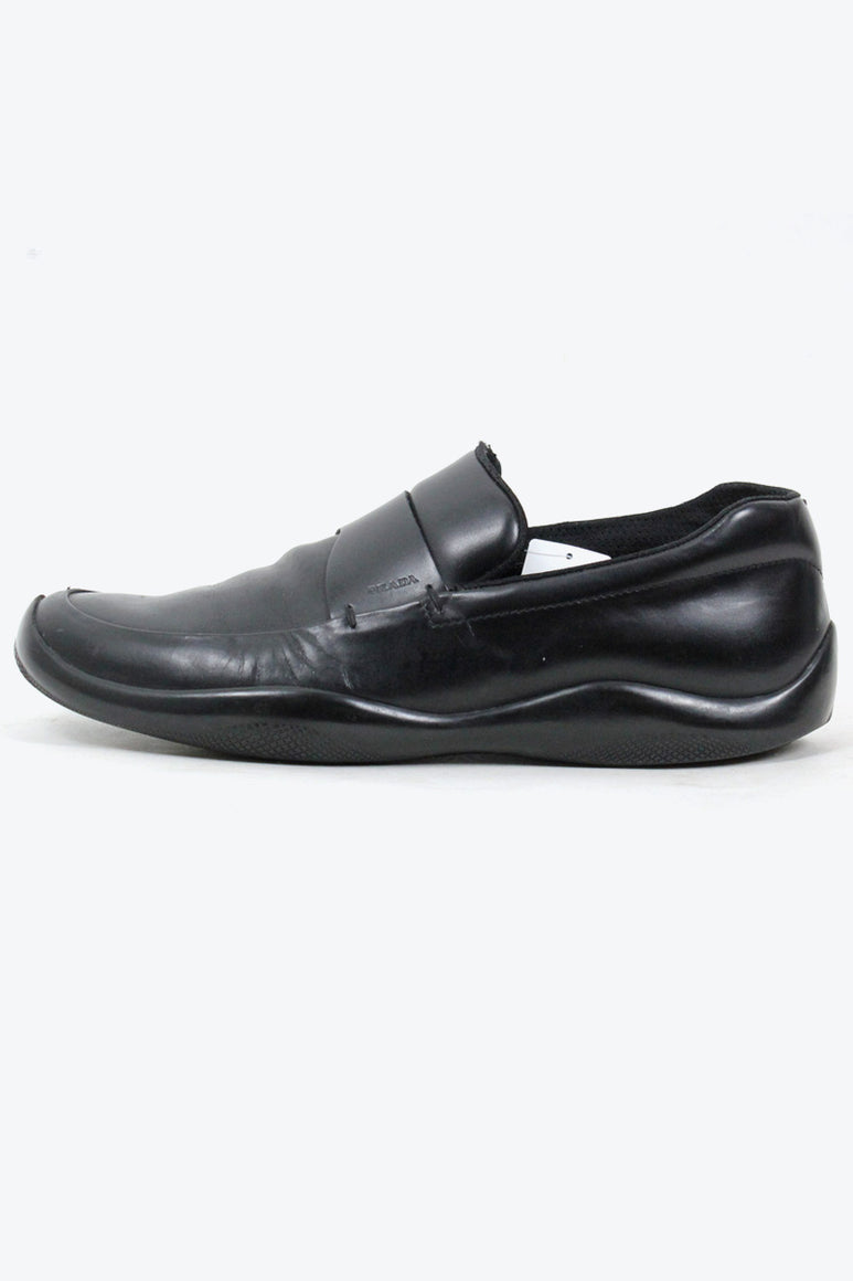 MADE IN ITALY LEATHER LOAFER / BLACK [SIZE: US10.5(28.5cm相当) USED][小松店]