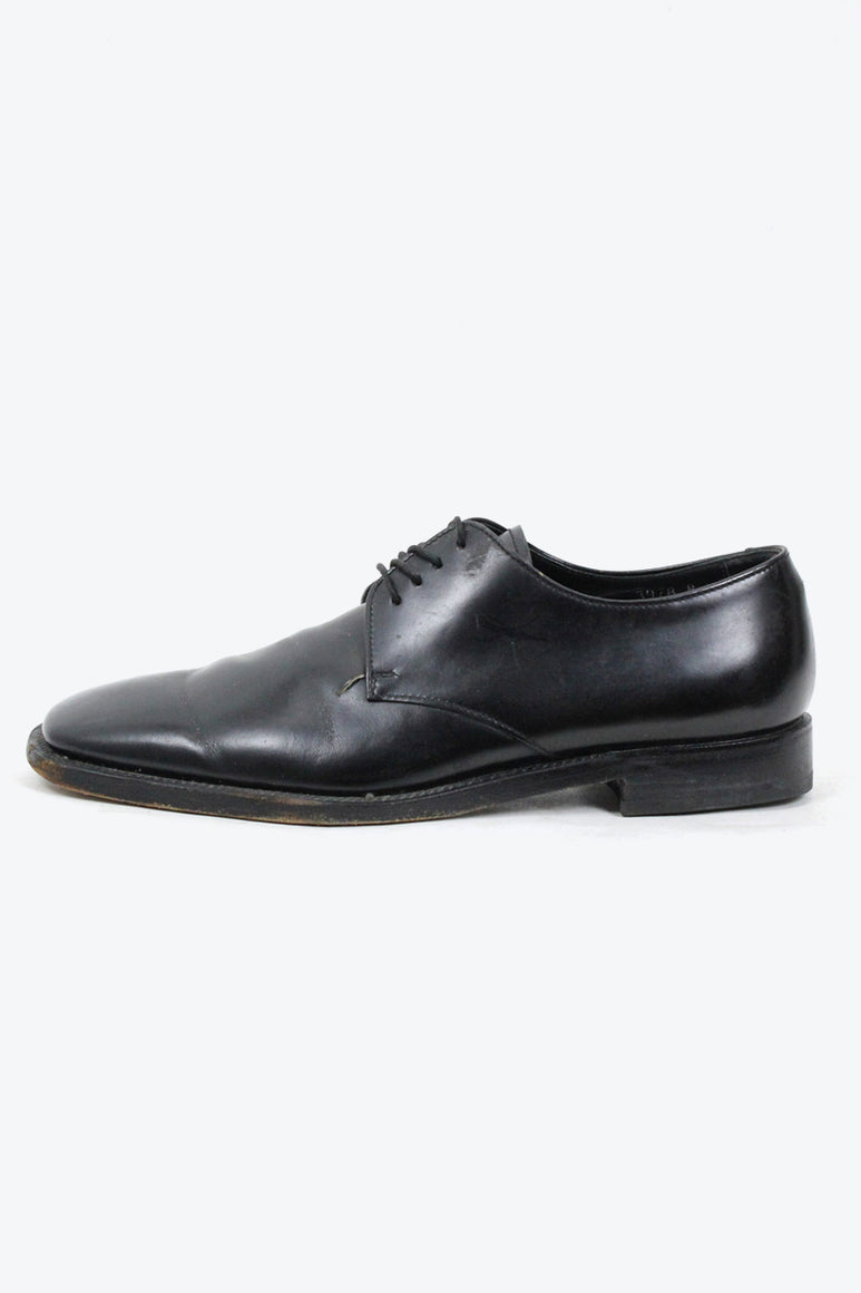 MADE IN ITALY SQUARE TOE LEATHER SHOES / BLACK [SIZE: US9(27cm相当) USED][金沢店]