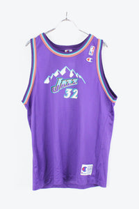 90'S JAZZ GAME SHIRT / PURPLE/MULTI [SIZE:XL USED] [金沢店]