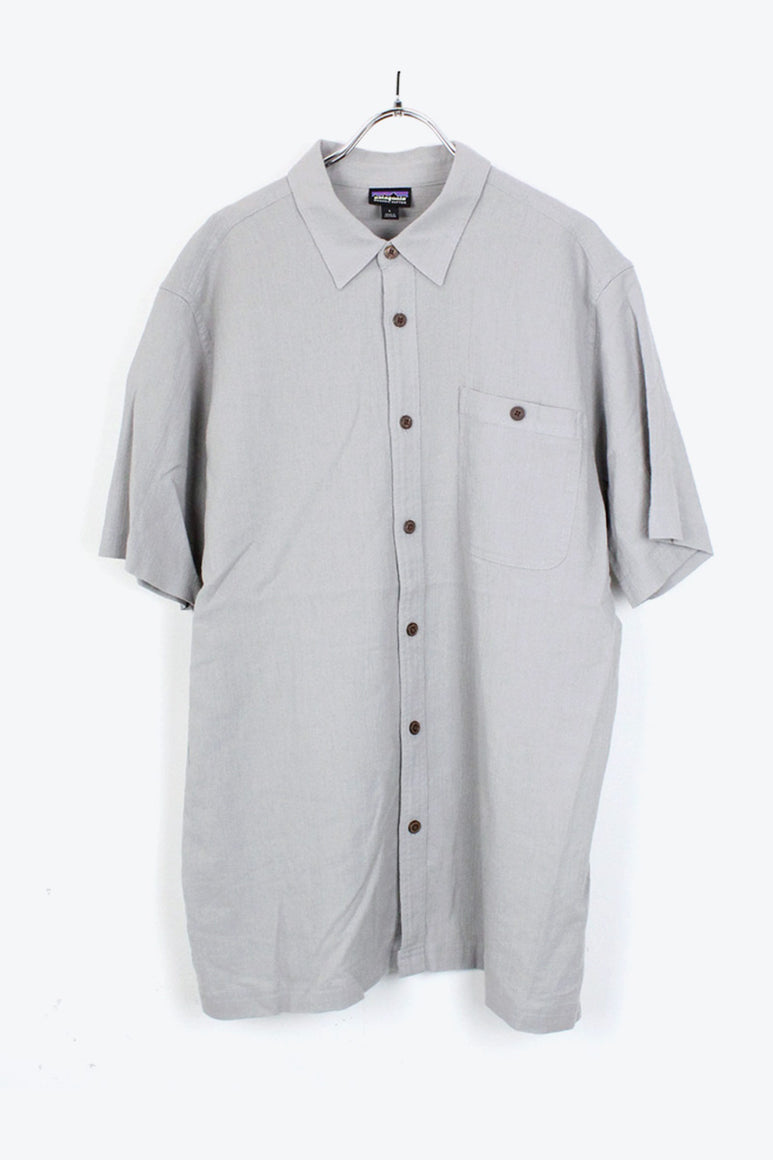 S/S ORGANIC COTTON SHIRT / GRAY【SIZE:L USED】【金沢店】