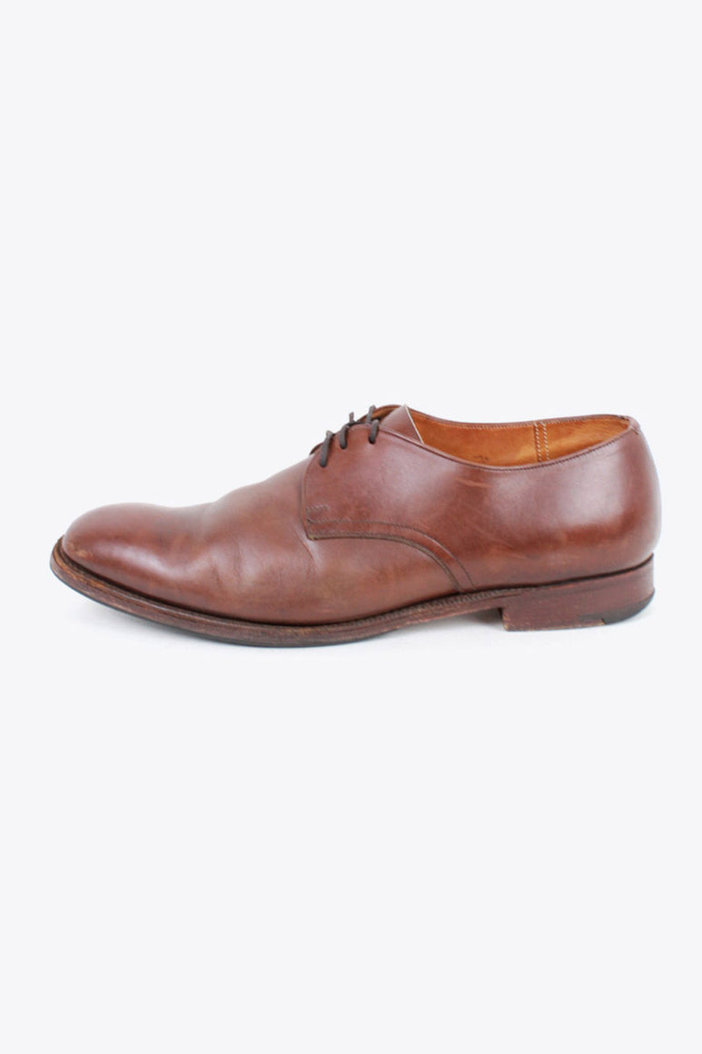 MADE IN ENGLAND PLAIN TOE LEATHER SHOES / BROWN [SIZE: US9F(27cm相当) USED]