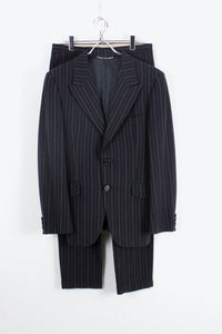 MADE IN ITALY STRIPE SUIT SET UP / NAVY RED STRIPE【SIZE:48 USED】【金沢店】