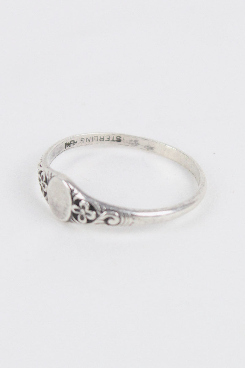 STERLING SILVER RING/SILVER [SIZE:12号相当 USED][金沢店]