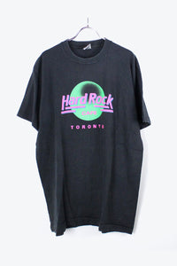 90'S S/S HARD ROCK CAFE T-SHIRT / BLACK [SIZE:XL USED] [金沢店]