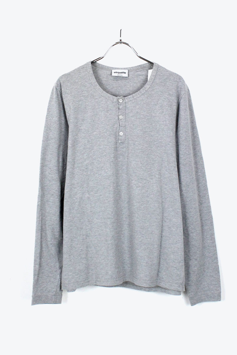 MADE IN ITALY L/S TEE SHIRT / GRAY [SIZE: S USED] [金沢店]